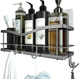 KINCMAX Shower Caddy Basket Shelf with Hooks for Hanging Sponge and Razor,Shampoo Holder Organize... | Amazon (US)