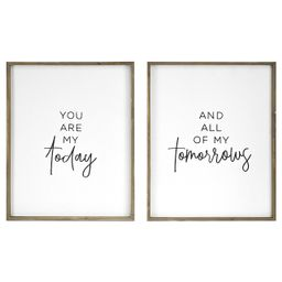 Belle Maison Today and All of My Tomorrows 2-pc. Framed Art Wall Decor | Kohl's