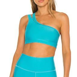 alo Excite Bra in Bright Aqua from Revolve.com | Revolve Clothing (Global)