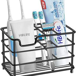 hblife Electric Toothbrush Holder, Large Stainless Steel Toothpaste Holder Bathroom Accessories O... | Amazon (US)