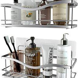 KINCMAX Shower Caddy Bathroom Shelf, No Drilling Traceless Adhesive Bathroom Storage Organizer, S... | Amazon (US)