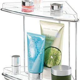 mDesign Metal 2-Tier Corner Storage Organizing Caddy Stand for Bathroom Vanity Countertops, Shelv... | Amazon (US)