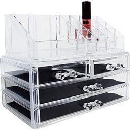 Ikee Design Jewelry Makeup Cosmetic Storage Organizer Two Pieces Set Makeup Organizer Cosmetics, ... | Amazon (US)