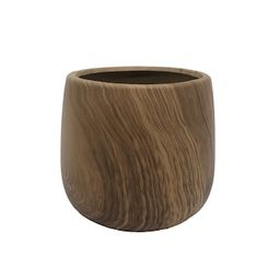 """5.5"""" Wood Grain Ceramic Floral Container by Ashland® 