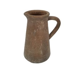 """9.5"""" Brown Clay Pottery Pitcher by Ashland® 