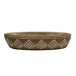 """14"""" Brown Carved Bowl by Ashland® 