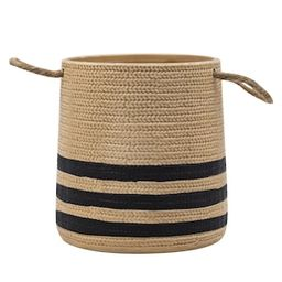 """5.5"""" Striped Ceramic Vase with Rope Handles by Ashland® 