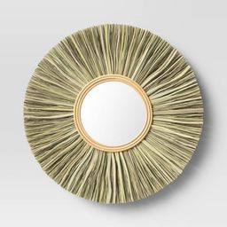 "24"" Rattan Wall Mirror - Threshold™ | Target"