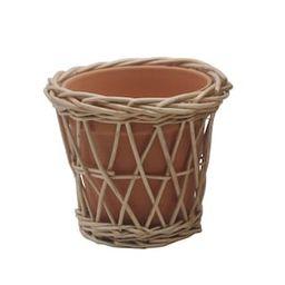 "5.3"" Terracotta Wicker Pot by Ashland® | Michaels Stores"