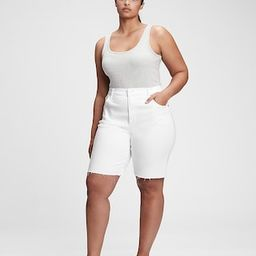 9'' High Rise Denim Bermuda Shorts With Washwell™ | Gap (US)