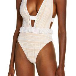Lace Peplum One-Piece Swimsuit | Nordstrom