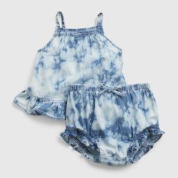 Baby Tie-Dye Denim Outfit Set   Gap (US)