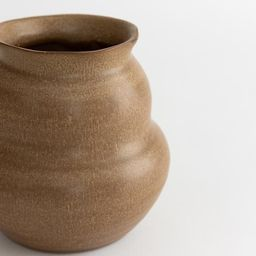 Sculpted Stoneware Vase | McGee & Co.