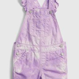 Toddler Tie-Dye Denim Shortalls with Washwell ™   Gap (US)
