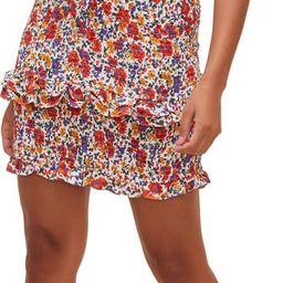 Isabel Floral Off the Shoulder Smocked Minidress | Nordstrom