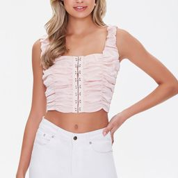 Ruched Hook-and-Eye Crop Top   Forever 21 (US)
