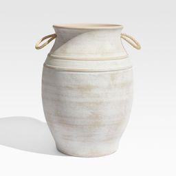 Elvy Large Ceramic Indoor/Outdoor Planter + Reviews | Crate and Barrel | Crate & Barrel