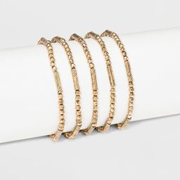 Beaded Stretch Bracelet Set 5ct - Universal Thread™ Gold | Target