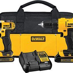 DEWALT 20V Max Cordless Drill Combo Kit, 2-Tool (DCK240C2) | Amazon (US)