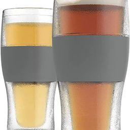 Host Freeze Beer Glasses, 16 ounce Freezer Gel Chiller Double Wall Plastic Frozen Pint Glass, Set... | Amazon (US)