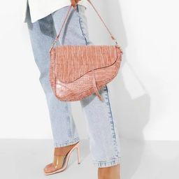 Croc Tassel Detail Shoulder Bag | Boohoo.com (US & CA)