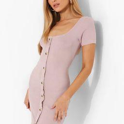 Button Through Short Sleeve Mini Dress | Boohoo.com (US & CA)
