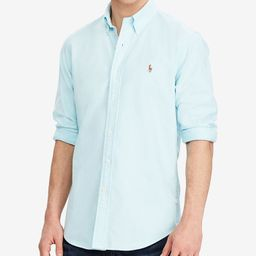 Men's Classic Fit Long Sleeve Solid Oxford Shirt   Macys (US)