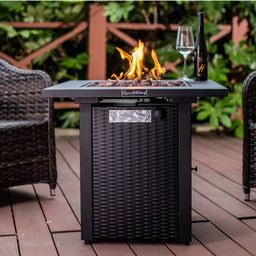 """Square Fire Table 28"""" - Legacy Heating   Target"""