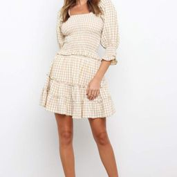 Porter Skirt - Beige Gingham | Petal & Pup (US)