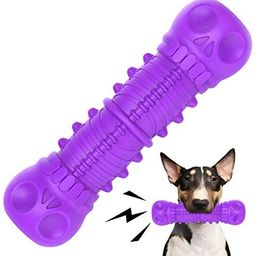 FRLEDM Dog Squeaky Toys- Toughest Natural Rubber-Dog Chew Toys for Aggressive Chewers, Almost Ind... | Amazon (US)