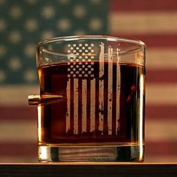 Patriotic Rocks Glass | Etsy (US)