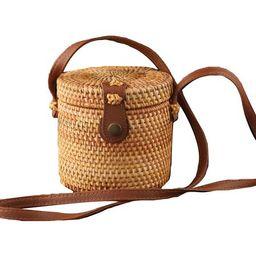 'Kris' Handmade Rattan Bucket Bag | Goodnight Macaroon