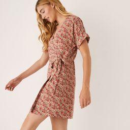 The Summer Garden Wrap Dress in Dark Pink | Frank + Oak