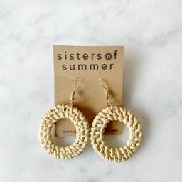 Rattan Weave Circle Earrings Wicker | Etsy (CAD)