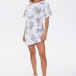 Tie-Dye Cutout T-Shirt Dress   Forever 21 (US)