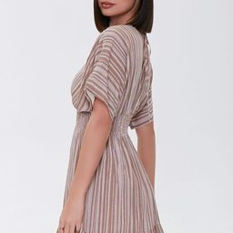 Plunging Striped Mini Dress   Forever 21 (US)
