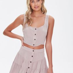 Tiered Button-Front Mini Skirt   Forever 21 (US)
