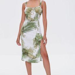 Leaf Print Sweetheart Dress   Forever 21 (US)