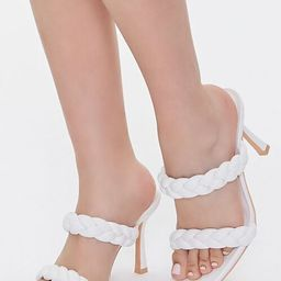 Braided Square-Toe Heels   Forever 21 (US)