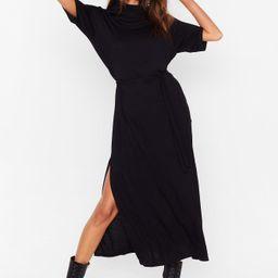 Belted Short Sleeve Midi Dress   NastyGal