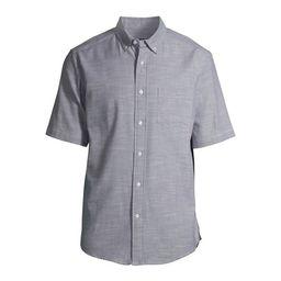 George Men'sand Big Men's Plaid Poplin Short Sleeve Shirt   Walmart (US)