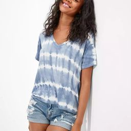 AE Oversized Soft & Sexy Tie-Dye V-Neck T-Shirt | American Eagle Outfitters (US & CA)