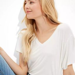 AE Oversized Soft & Sexy V-Neck T-Shirt | American Eagle Outfitters (US & CA)