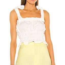 Bardot Linen Tie Cami in Orchid White from Revolve.com   Revolve Clothing (Global)