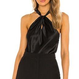 Amanda Uprichard Wanda Top in Black from Revolve.com   Revolve Clothing (Global)