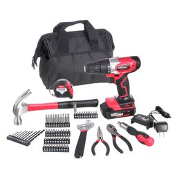 Hyper Tough 20V Max 3/8-in. Cordless Drill & 70-Piece DIY Home Tool Set Project Kit with 1.5Ah Li...   Walmart (US)