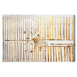 """16"""""""" x 24"""""""" Love Force Field Gold Abstract Unframed Canvas Wall Art in Gold - Oliver Gal 