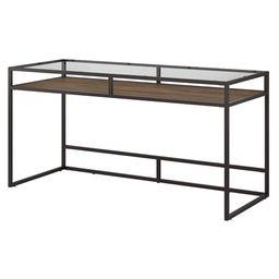 Bush Furniture Anthropology 60W Glass Top Writing Desk with Shelf | Walmart (US)