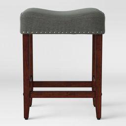 "24"" Rumford Saddle Counter Height Barstool with Wood Leg - Threshold™ | Target"