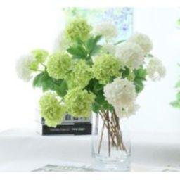 5 Stems Artificial Guelder-Rose Green 2-Heads Fake Hydrangea White Faux Spring Flower Arrangement We | Etsy (US)